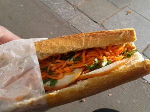 Sandwich zur Mittagspause in Frankreich