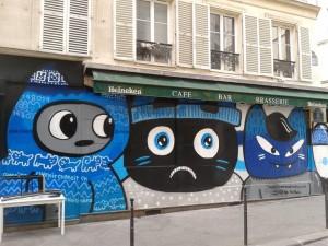 Katzen-Graffiti in Paris