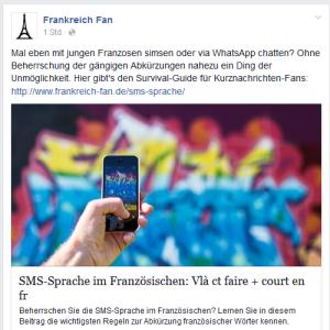 Beitrag Facebook-Fanseite