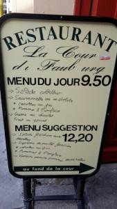 Mittagsmenü La Cour Faubourg