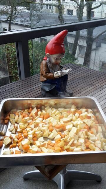 Gemüse abkühlen
