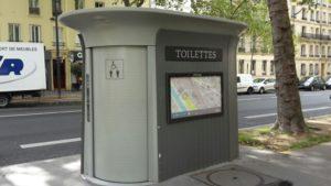 Öffentliche Toiletten in Paris