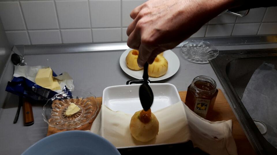 Füllung des Apfels
