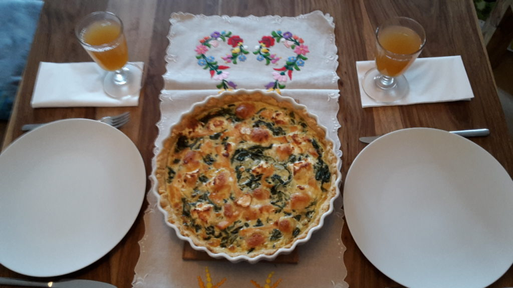 Quiche servierfertig