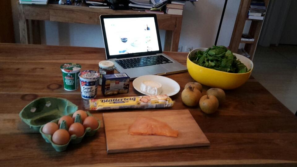 Zutaten für Quiche und Douillon aux pommes